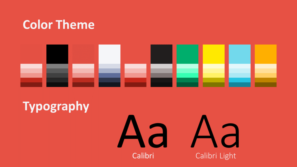 Free Sonar Creative Template for Google Slides - Colors Fonts