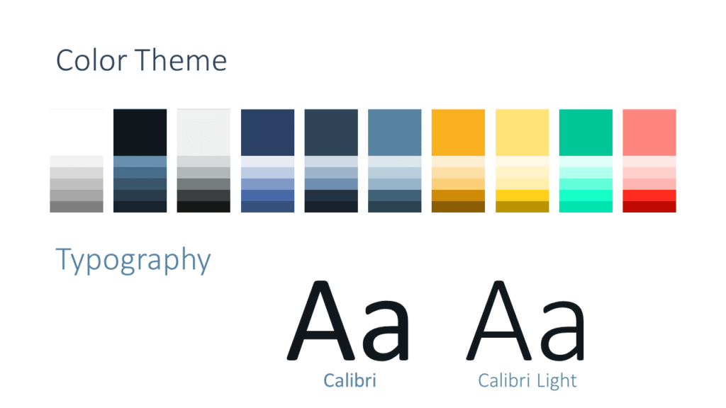 Free Triangle Modern Template for Google Slides - Colors Fonts