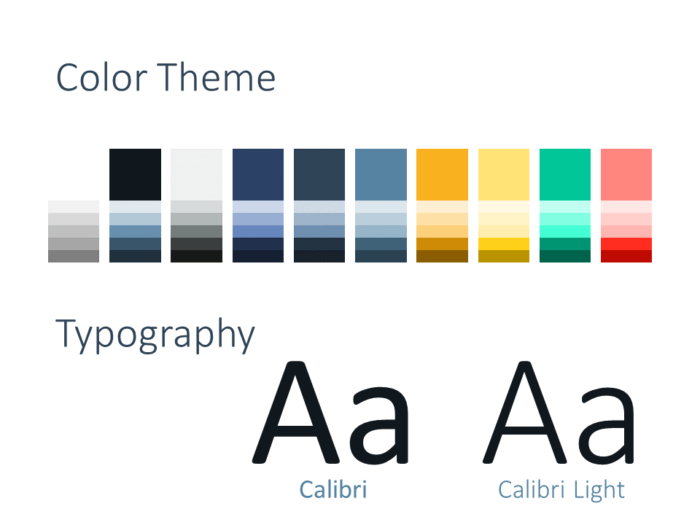 Free Triangle Modern Template for PowerPoint - Colors Fonts