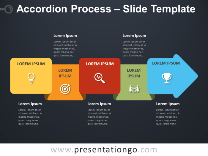 Free Accordion Process Diagram for PowerPoint