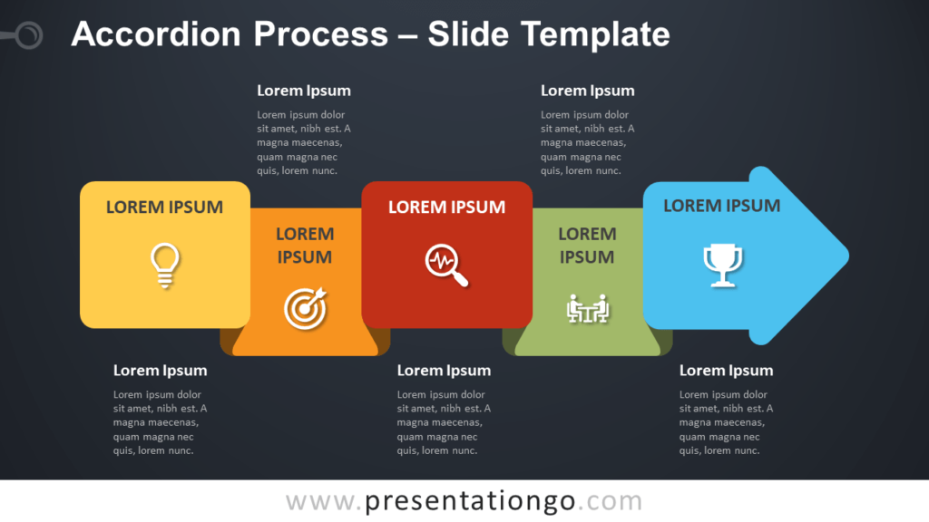 Free Accordion Process Diagram for PowerPoint and Google Slides
