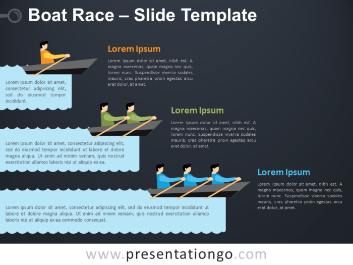 Free Boat Race Infographic for PowerPoint