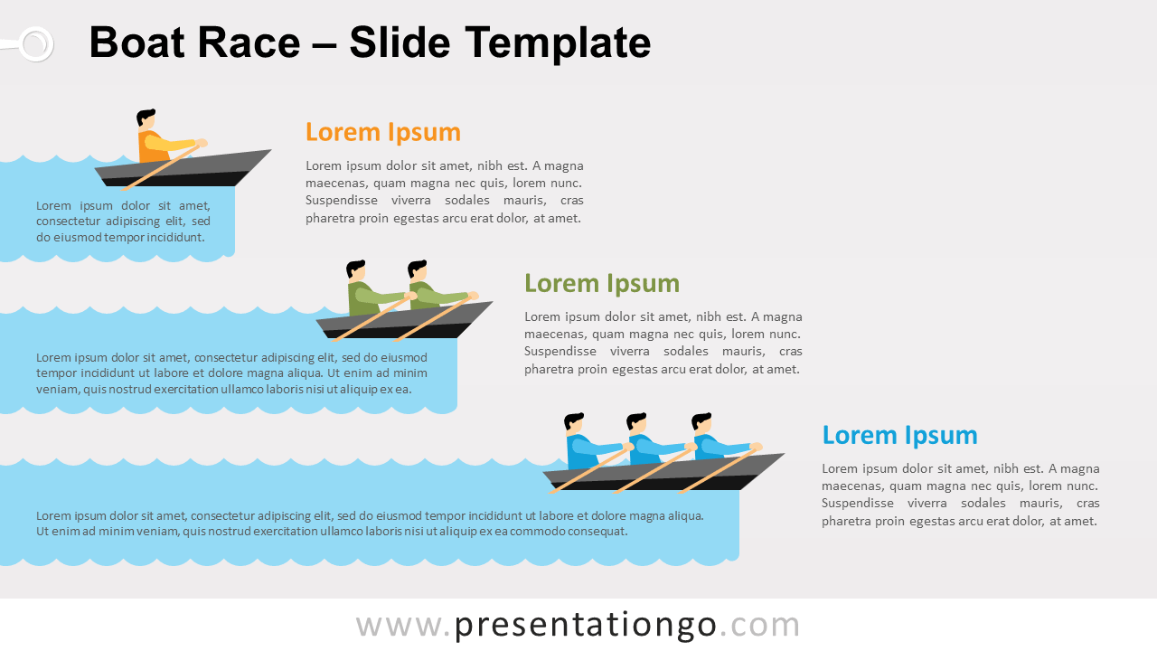 Free Boat Race for PowerPoint and Google Slides