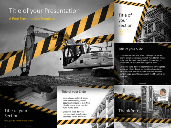Free Construction Template for Google Slides and PowerPoint