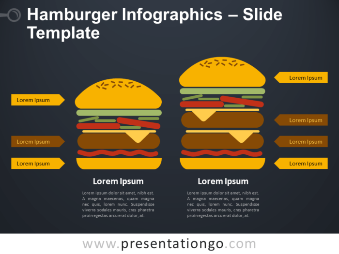 Free Hamburger Infographics Diagram for PowerPoint