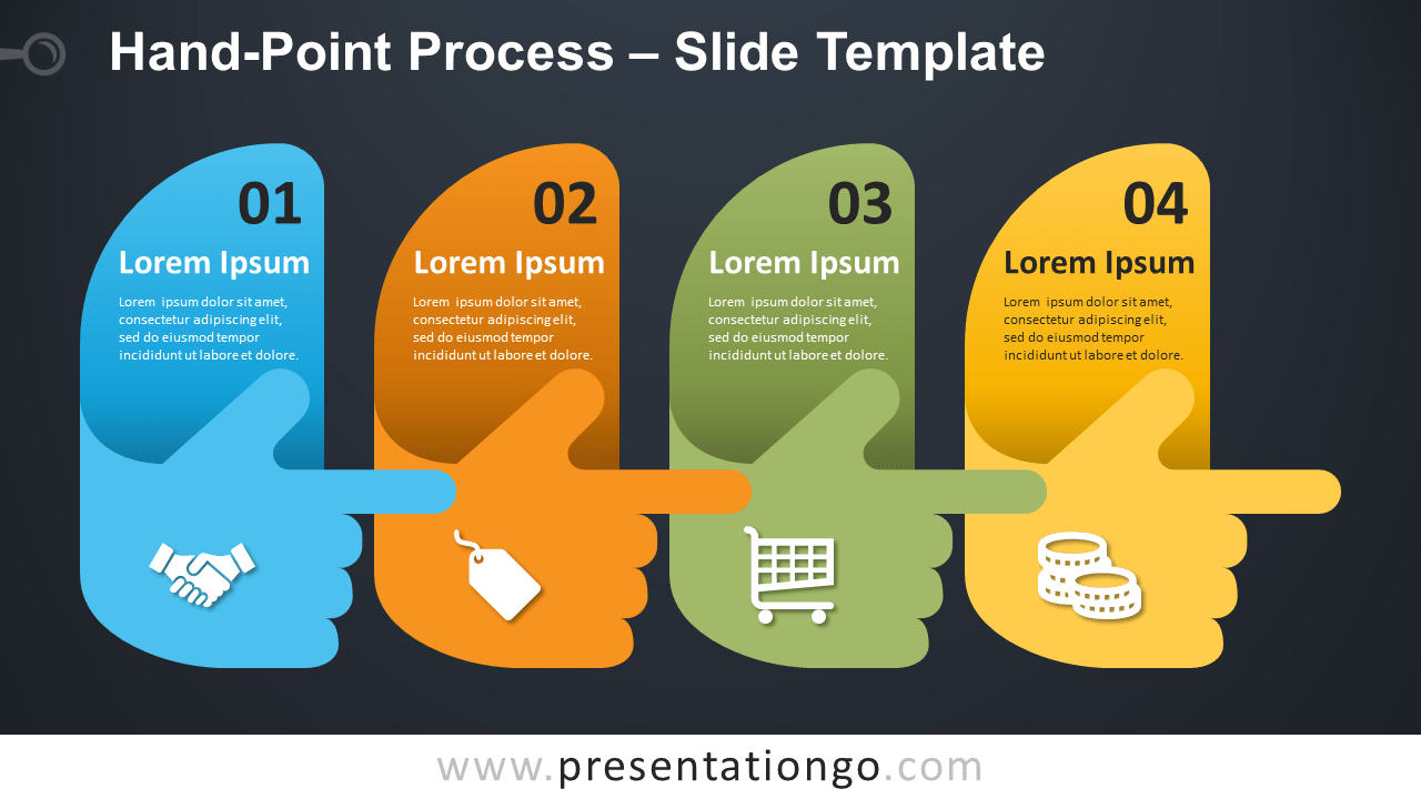 Free Hand-Point Process Infographic for PowerPoint and Google Slides