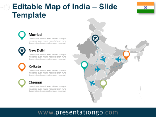 India Map for PowerPoint
