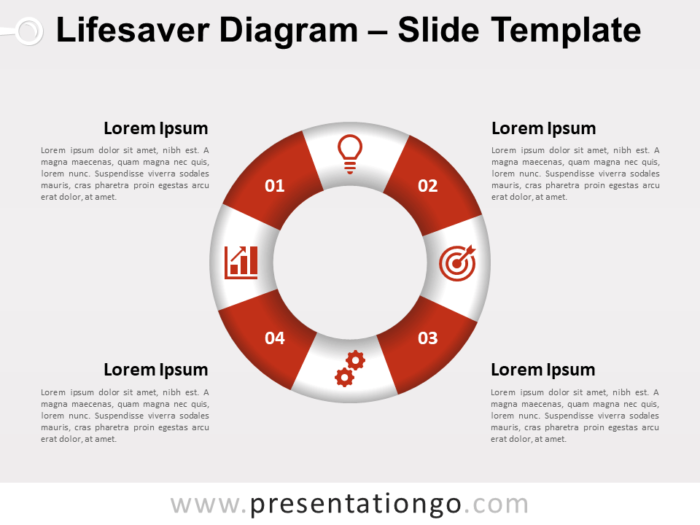 Free Infographic Lifesaver Diagram for PowerPoint