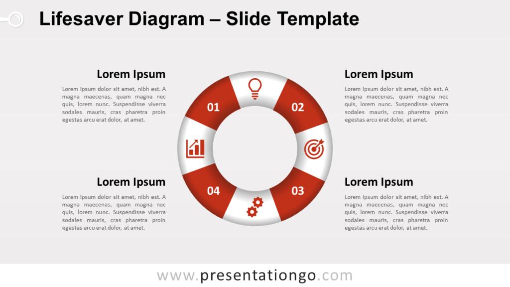 Free Infographic Lifesaver Diagram for PowerPoint and Google Slides