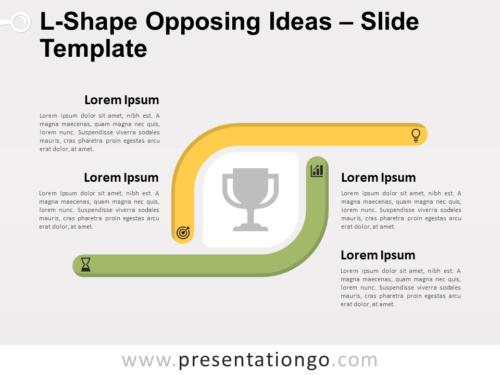 Free L-Shape Opposing Ideas for PowerPoint