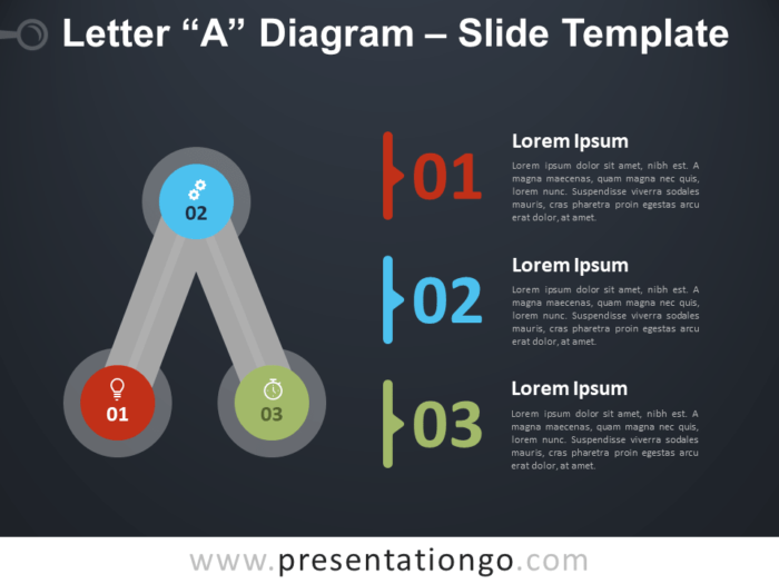 Free Letter A Diagram Infographic for PowerPoint