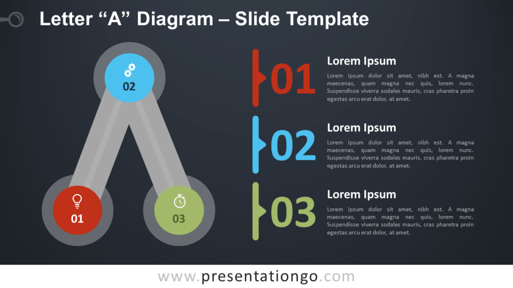 Free Letter A Diagram Infographic for PowerPoint and Google Slides