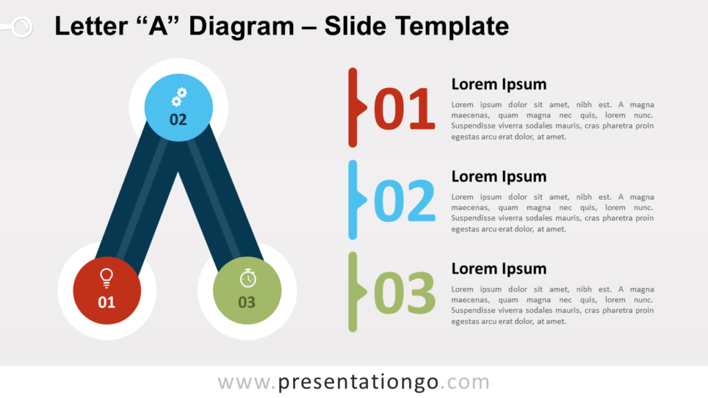 Free Letter A Diagram for PowerPoint and Google Slides