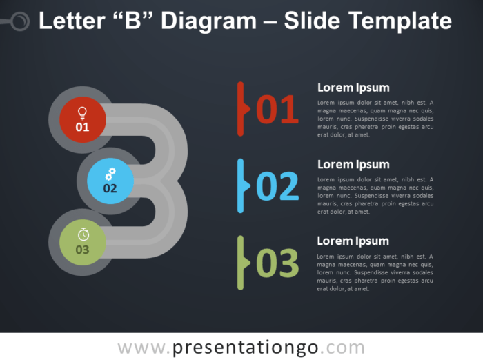 Free Letter B Diagram Infographic for PowerPoint