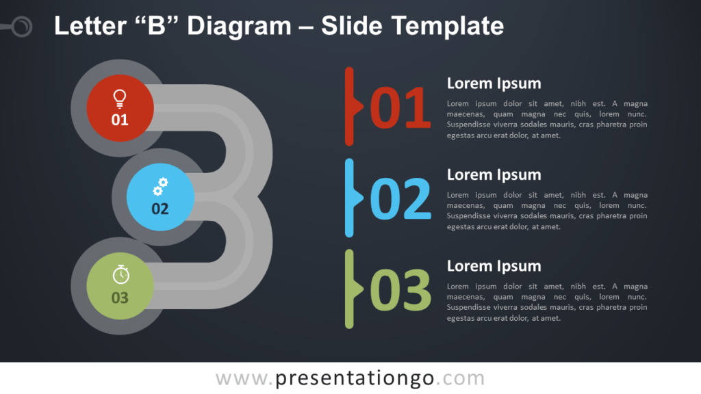 Free Letter B Diagram Infographic for PowerPoint and Google Slides