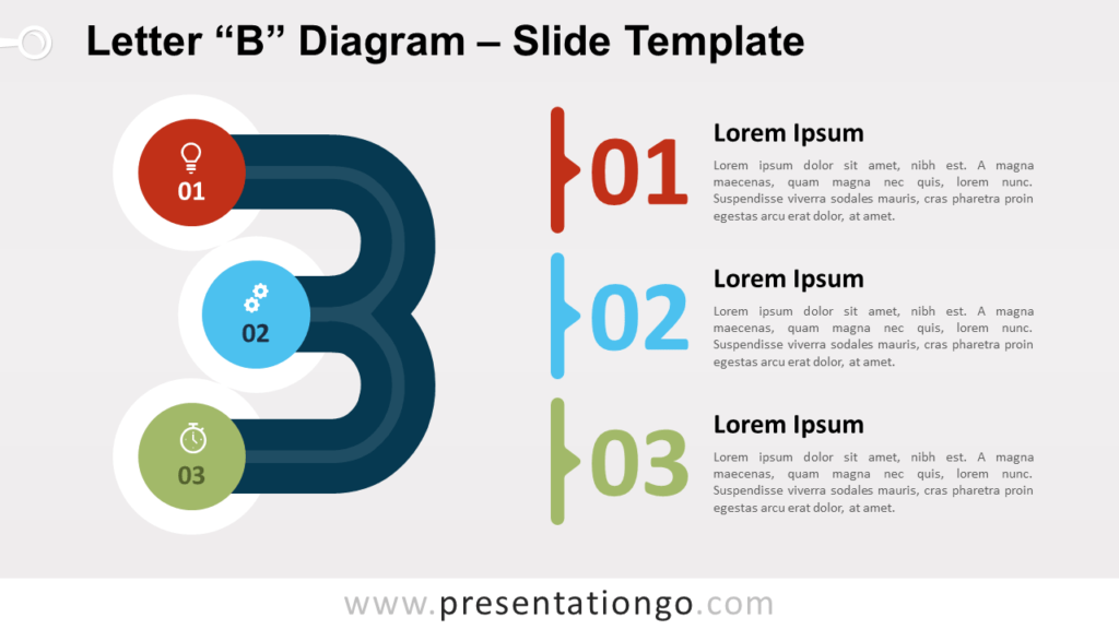Free Letter B Diagram for PowerPoint and Google Slides