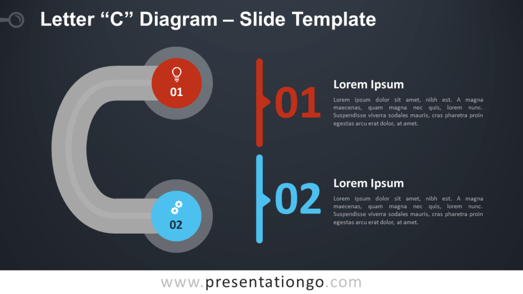 Free Letter C Diagram Infographic for PowerPoint and Google Slides