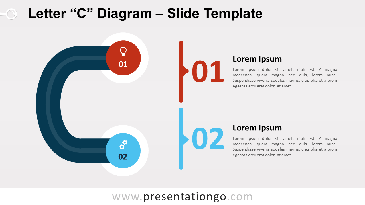 Free Letter C Diagram for PowerPoint and Google Slides