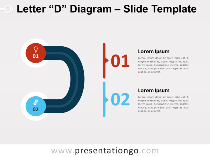 Free Letter D Diagram for PowerPoint