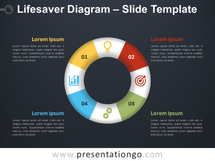 Free Lifesaver Diagram Infographic for PowerPoint