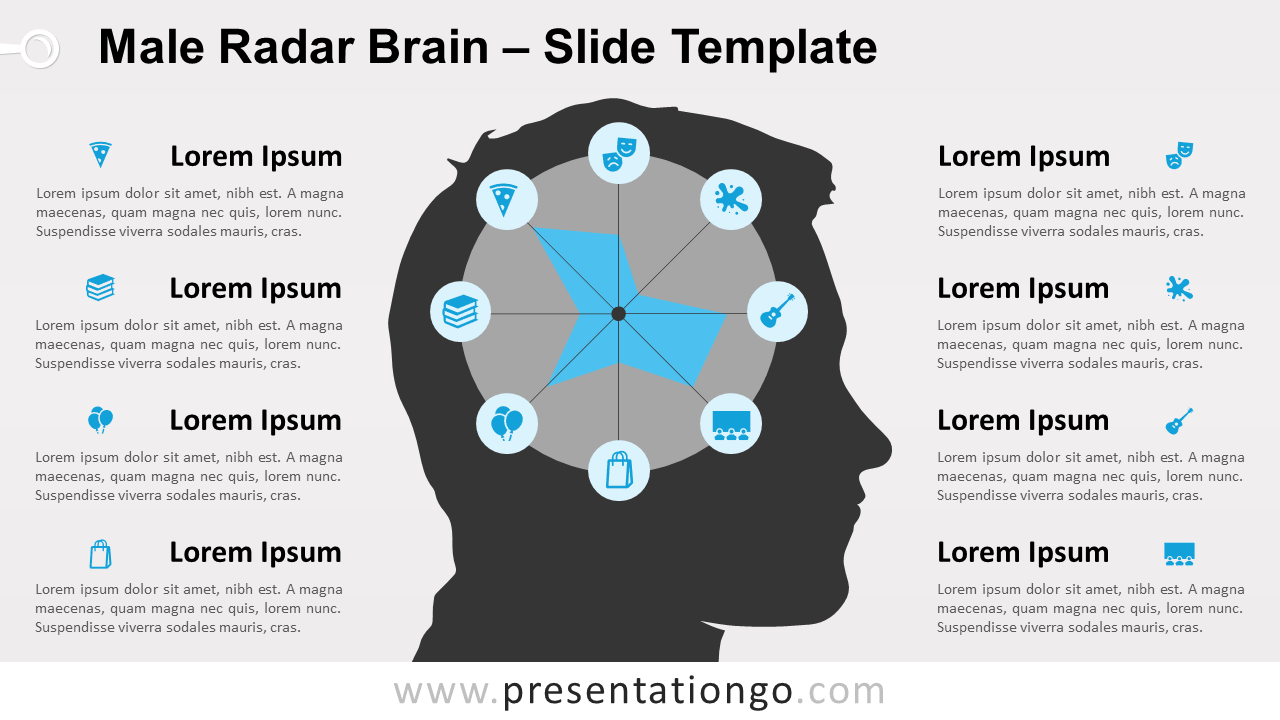 Free Male Radar Brain for PowerPoint and Google Slides