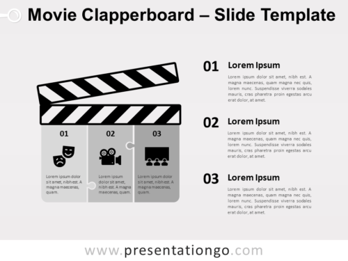 Free Movie Clapperboard for PowerPoint