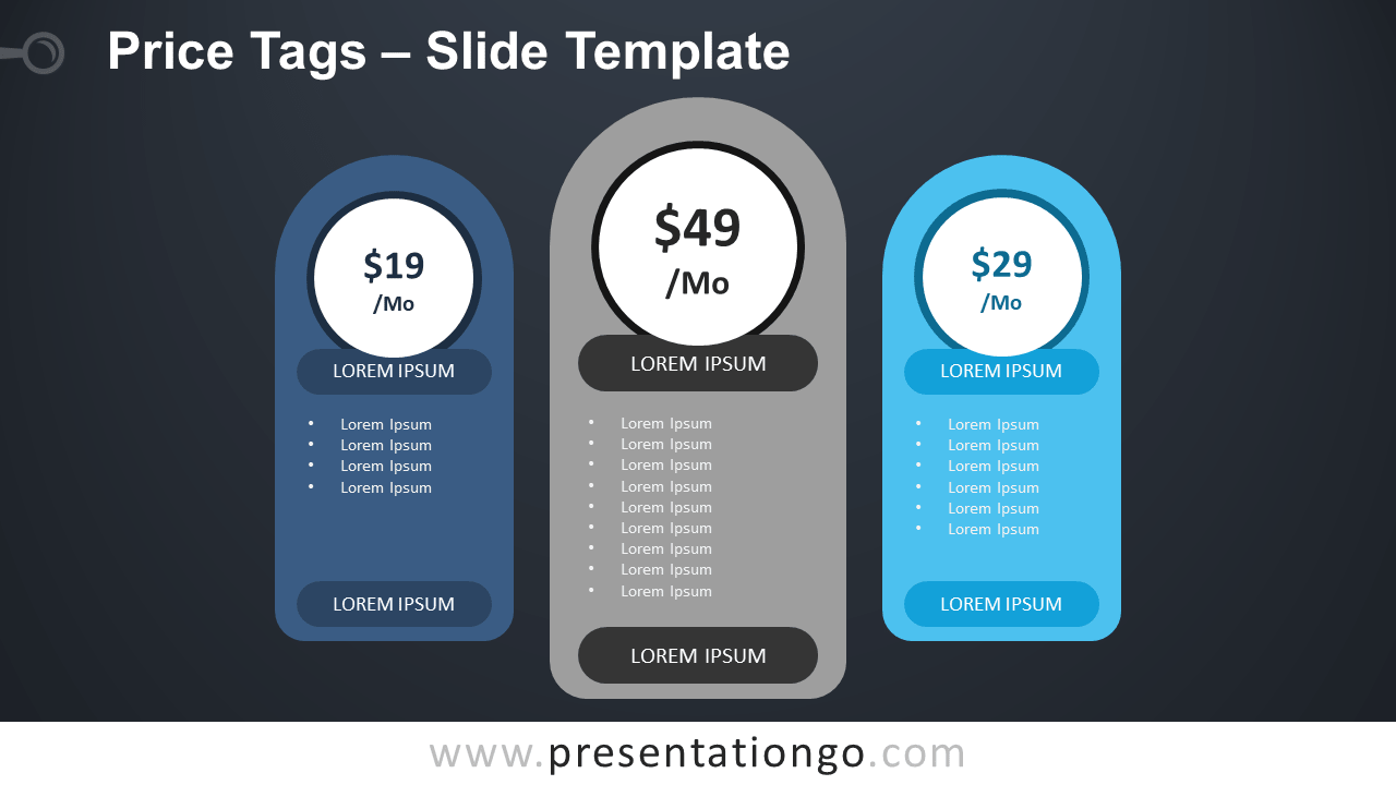 Free Price Tags Table for PowerPoint and Google Slides