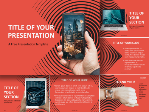 Free Sonar Creative Template for Google Slides and PowerPoint