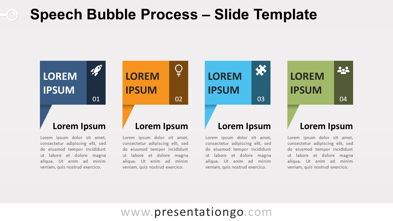 Free Speech Bubble Process for PowerPoint and Google Slides