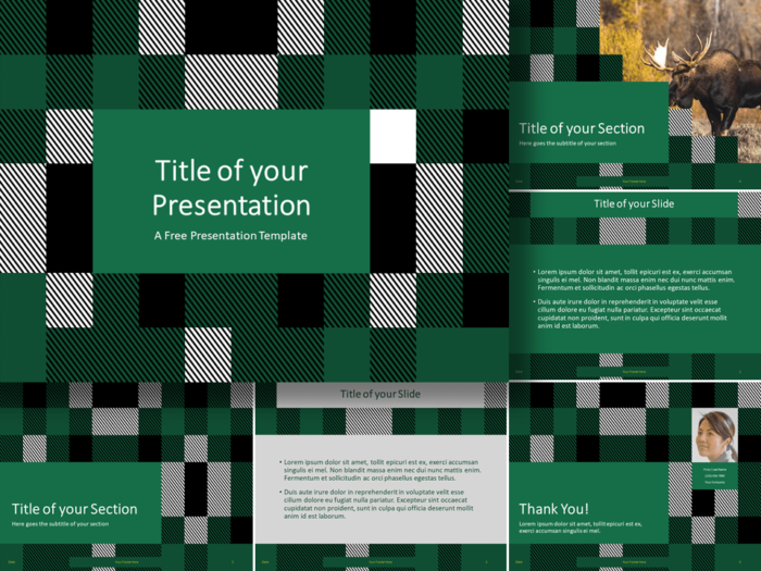 Free TARTAN Template for Google Slides and PowerPoint