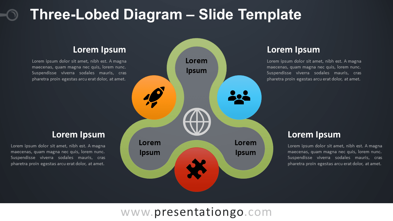 Free Three-Lobed Diagram Infographic for PowerPoint and Google Slides