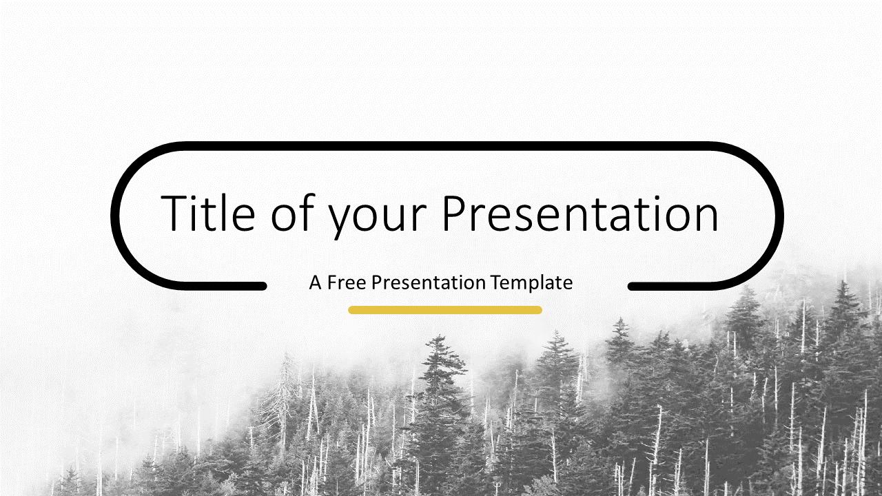 Free Foggy Forest Template for Google Slides - Cover Slide