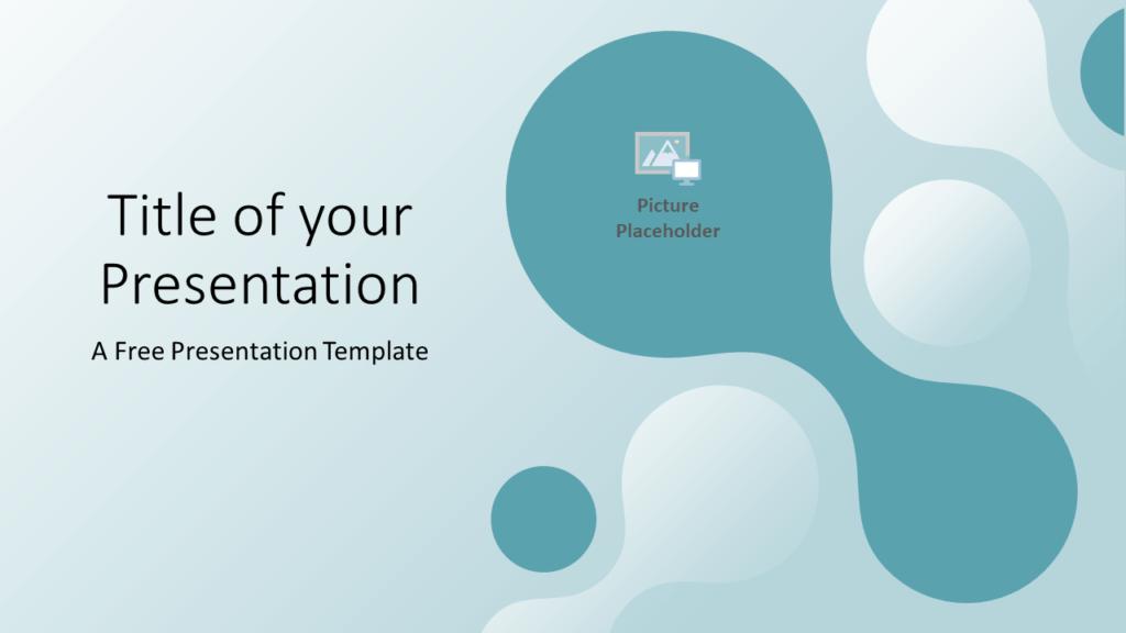 Free Molecular Template for Google Slides - Cover Slide