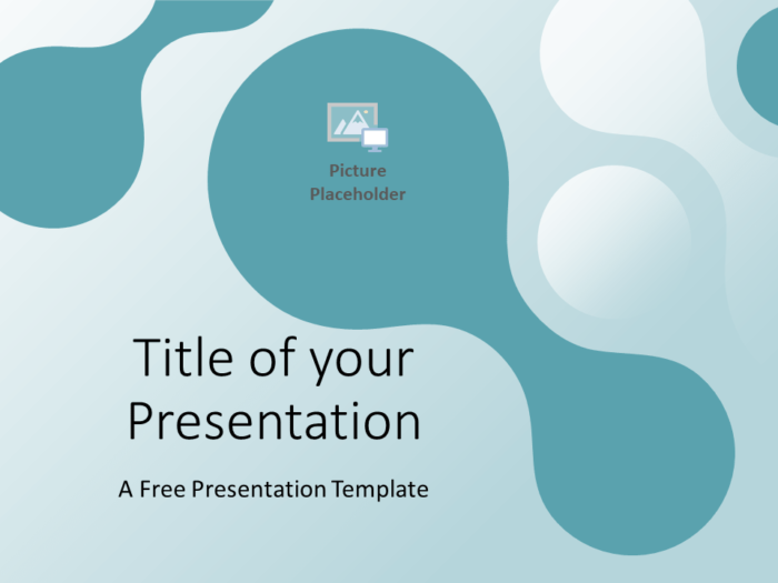 Free Molecular Template for PowerPoint - Cover Slide