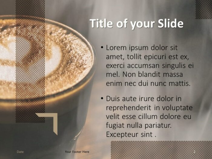 Free BARISTA Template for PowerPoint – Title and Content Slide (Variant 1)