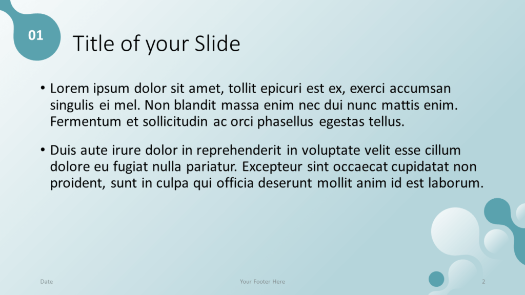 Free Molecular Template for Google Slides - Title and Content (variant 1)