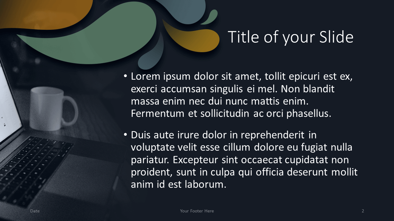 Free Office Drops Template for Google Slides - Title Content (Variant 1)