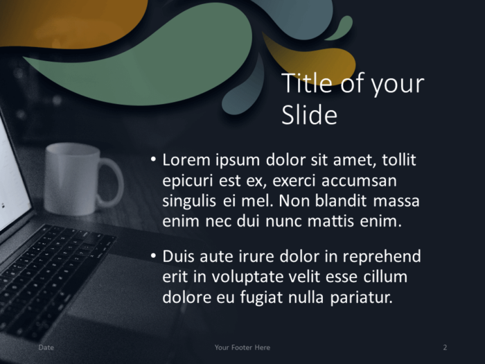 Free Office Drops Template for PowerPoint - Title Content (Variant 1)