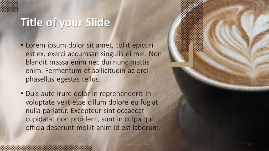 Free BARISTA Template for Google Slides – Title and Content Slide (Variant 2)