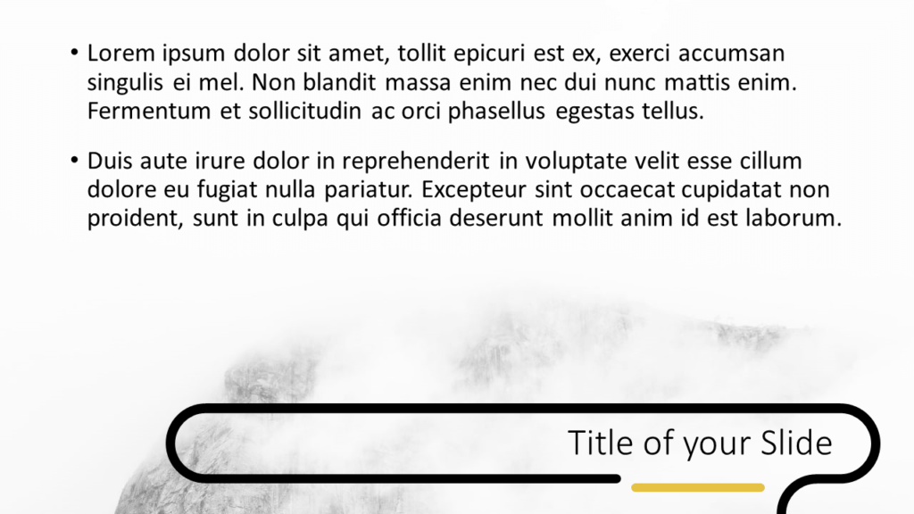 Free Foggy Forest Template for Google Slides – Title and Content Slide (Variant 2)