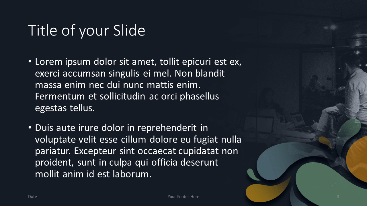 Free Office Drops Template for Google Slides - Title Content (Variant 2)