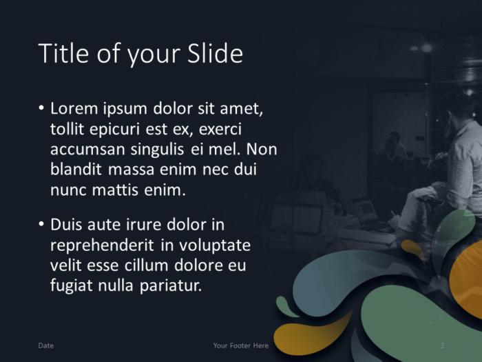 Free Office Drops Template for PowerPoint - Title Content (Variant 2)