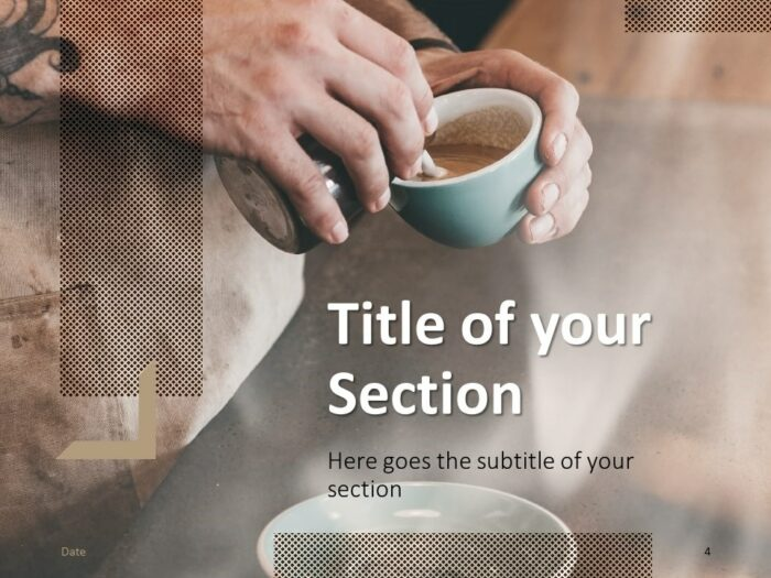 Free BARISTA Template for PowerPoint – Section Slide (Variant 1)