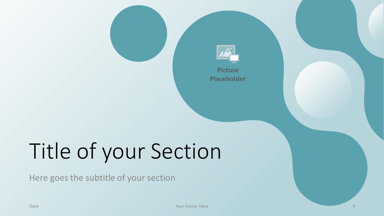 Free Molecular Template for Google Slides - Section Slide (variant 1)