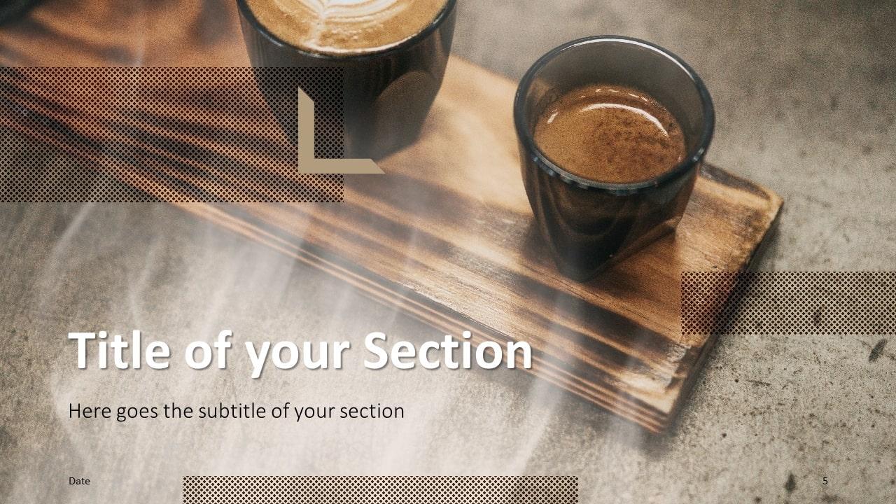 Free BARISTA Template for Google Slides – Section Slide (Variant 2)