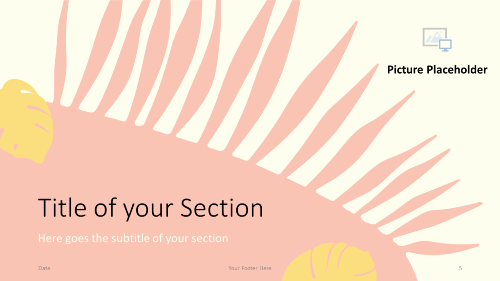 Free PASTEL LEAVES Template for Google Slides – Section Slide (Variant 2)