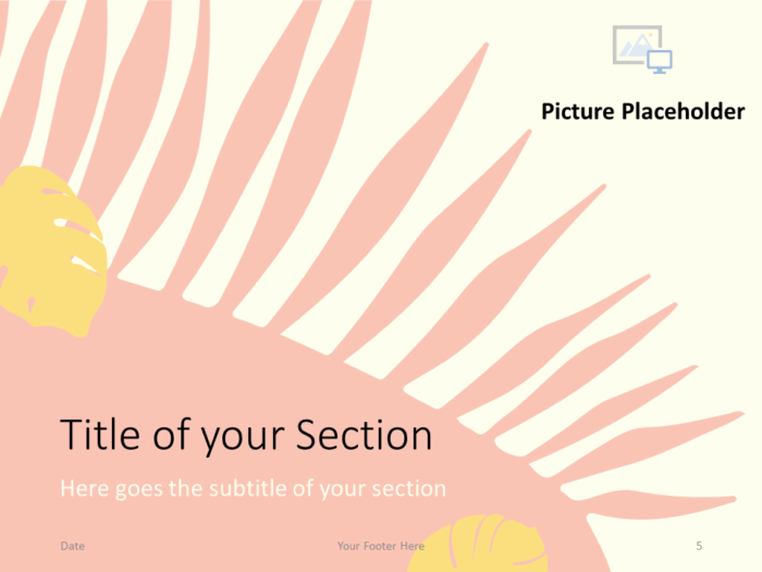 Free PASTEL LEAVES Template for PowerPoint – Section Slide (Variant 2)