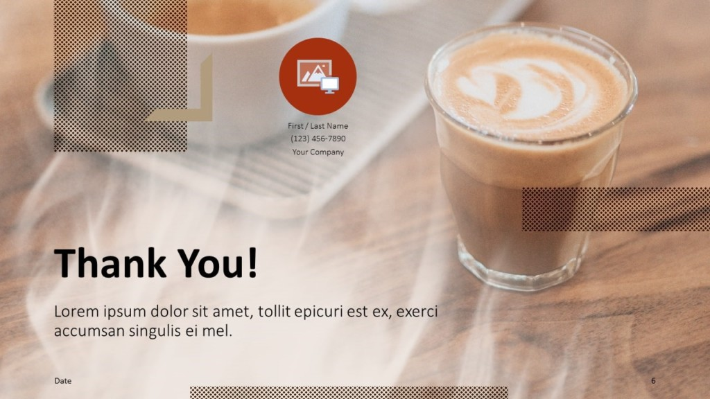 Free BARISTA Template for Google Slides - Closing / Thank you