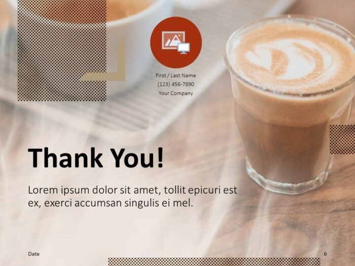 Free BARISTA Template for PowerPoint - Closing / Thank you