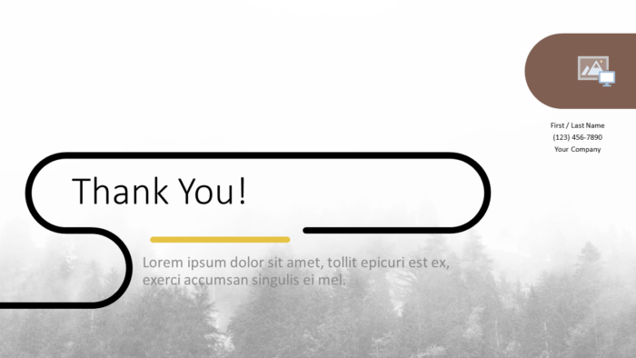 Free Foggy Forest Template for Google Slides - Closing / Thank you